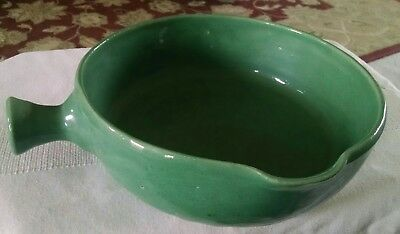 Vintage Bybee Pottery Green Serving Bowl