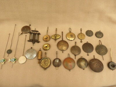 Large Collection Of Vintage And Antique Brass And Other Clock Pendulums