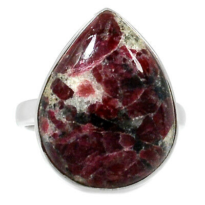 Russian Eudialyte 925 Sterling Silver Ring Jewelry s.9 RR163336
