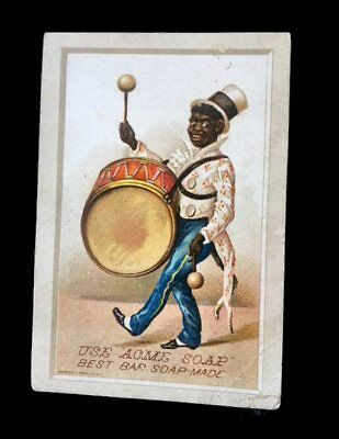 VTC=Black American-Musician marches with Bass DRUM-Bouncing Baseball?=ACME SOAP