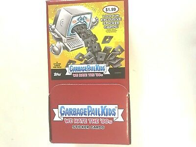 2018 TOPPS GARBAGE PAIL KIDS WE HATE THE 80's GRAVITY FEED BOX