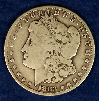 1883-CC $1 Morgan Silver Dollar Coin **Carson City**