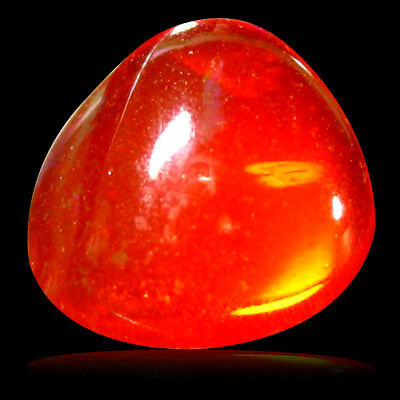 0.97 ct AAA Impressive Fancy Cabochon Shape (7 x 7 mm) Red Fire Opal Gemstone