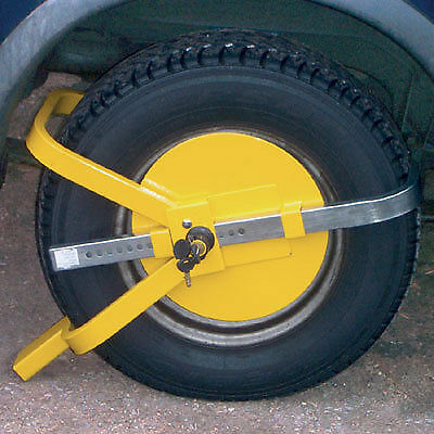 Crusader Caravan Security Anti Theft Full Face Wheel Clamp Lock Car Van Trailer