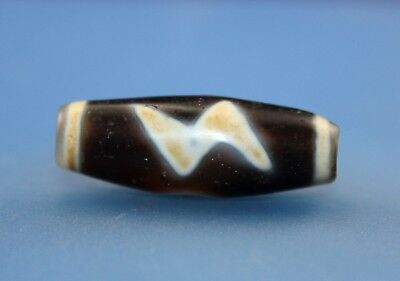 36*13 mm Antique Dzi Agate old Bead from Tibet **Free shipping**
