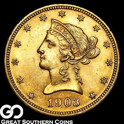 1903 Gold Eagle, $10 Gold Liberty, Lustrous Gem Beauty ** Free Shipping!