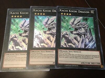 YUGIOH - Kachi Kochi Dragon x3 - Super Rare - MACR-ENSE1 - PlaySet NM