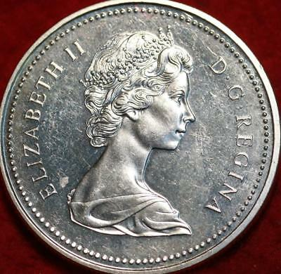 Uncirculated 1973 Silver Canada $1 Foreign Coin