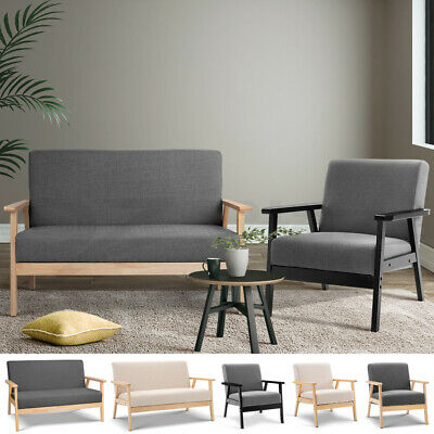 Artiss SKANE Armchair 2 Seater Dining Chairs Double Single Sofa Lounge Couch