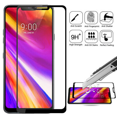 Full Coverage 9H Hardness Tempered Glass Screen Protector Guard For LG G7 ThinQ