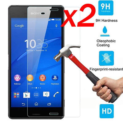 2Pcs 9H Tempered Glass Screen Protector Film For Sony Xperia XZ1 XA1 XZ Premium