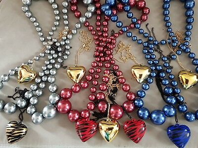 Joblot necklaces. beaded x 12.. & heart design x 9. New without tags. RESELL??