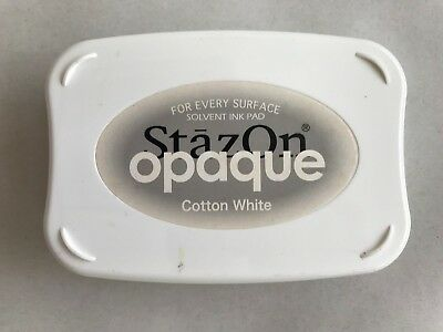 Stampin' Up Ink Pad - Stazon Opaque - Cotton White with re-inker