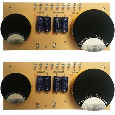 2 x Replacement 3-Way Speaker Passive Crossover / Xover 6dB 8 Ohm 400W