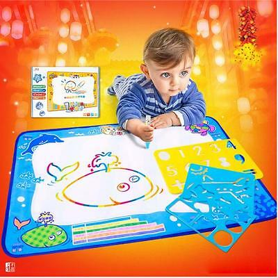 Water Drawing Painting Writing Mat Board Magic Pen Doodle Kids Toy Gift Large UK