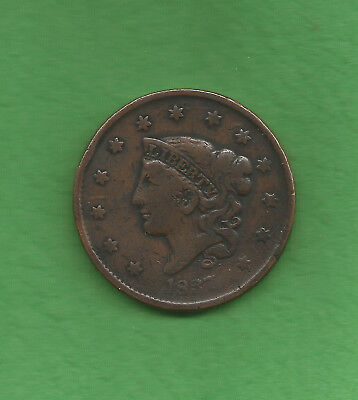 1837 Matron Head Modified, Large Cent - 181 Years Old!!!