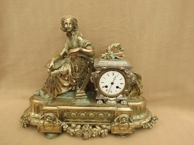 Very Large Vintage French S Marti Figural Clock For Tlc