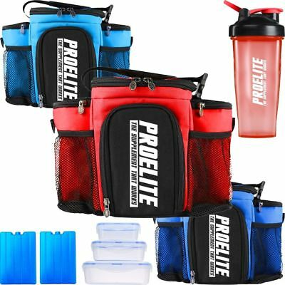 ProElite 3 Meal Management Lunch Cool Food Gym Fitness Meal Insulated ISO Bags