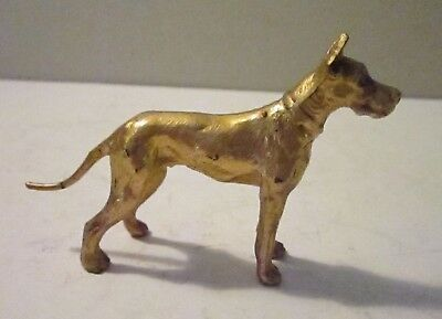 Vintage Cast Metal Great Dane Paperweight 'gold-Tone' *l@@k*