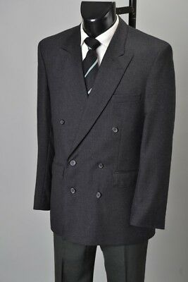 Industrialist's 1980s' Pure New Wool Double Breasted Lounge Suit. Ref ESF