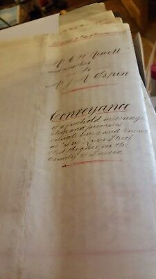 Hand written Conveyance dated 7th December 1909 for land in West Sussex