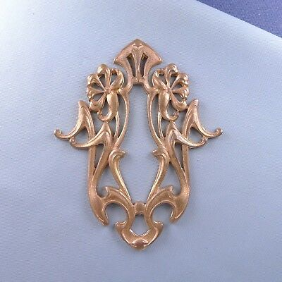 Art Nouveau Bronze Decorative Element / Keyhole Box Drawer Door Furniture