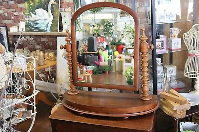 Victorian Mahogany Large Tilting Dressing Table Mirror Barley Twist Frame