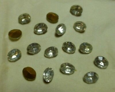 8x6mm crystal faceted foiled glass stones, 3 gross, Vintage LL746