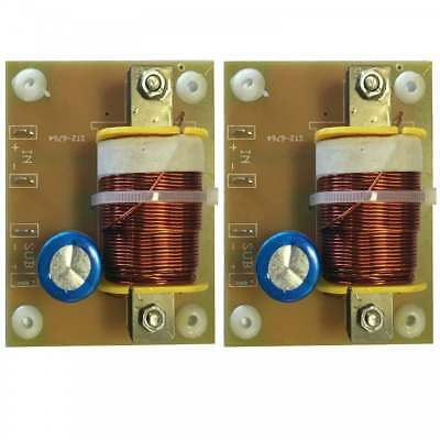2 x Replacement Subwoofer Speaker Passive Crossover / Xover 12dB 4Ohm 400W 120Hz