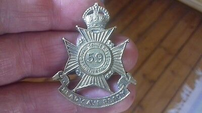 ww1/ww2  Indian Army Cap Or Collar Badge. 59 ROYAL SCINDE RIFLES FRONTIER FORCE