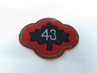 WWII U.S. Army patch 43rd Infantry felt variant patch