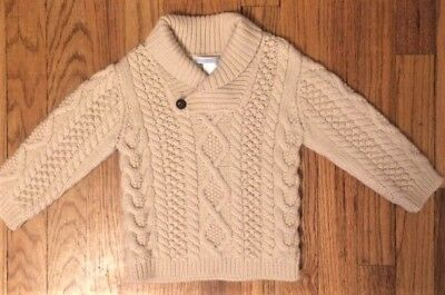 Janie And Jack 12 Mos to 18 Mos Boys Cable Knit Sweater Wool Blend