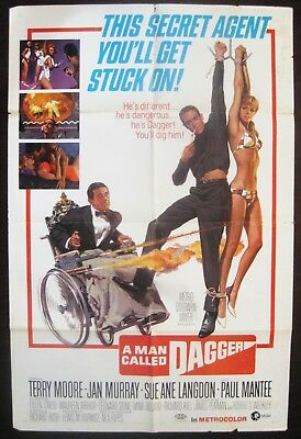 A Man Called Dagger 1967 Terry Moore Paul Mantee Original US One Sheet Poster