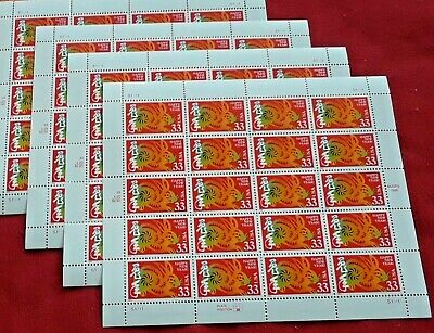 New 100 (5 x 20) HAPPY NEW YEAR (Year of the Rabbit) 33 ¢ US Stamps Scott # 3272