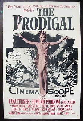 The Prodigal 1955 Lana Turner Original US Military One Sheet Poster