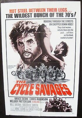 The Cycle Savages 1970 Bruce Dern Original US One Sheet Poster