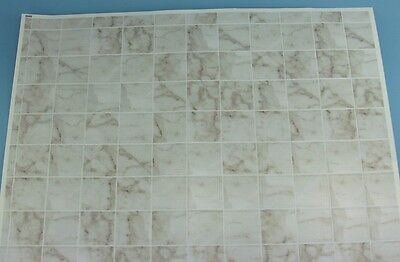 1/12 Scale White Marbled Dollhouse Miniature Tile Flooring #MH5958