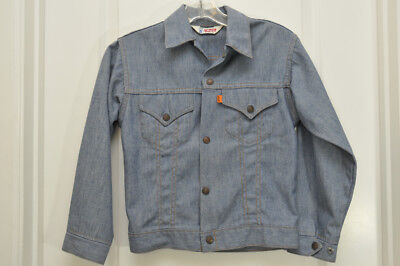 Vintage LEVI'S Orange Tab Jacket 70's Snap Front Size 12 Youth