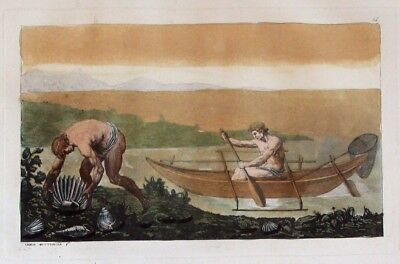 1825 - Molukken Obi - Inseln Maluku Indonesia Aquatinta aquatint antique print
