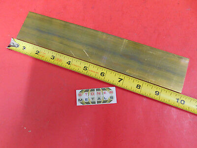 "1/8"" x 2"" C360 BRASS FLAT BAR 10"" long Solid Plate Mill Stock H02 .125""x 2.00"