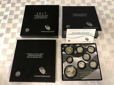 2017 United States Mint Limited Edition Silver Proof Set W/ S Mint Silver Eagle