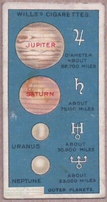Outer Planets Jupiter Saturn Uranus Neptune  Astronomy c90 Y/O Trade Ad Card