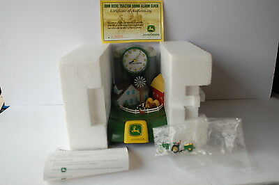 John Deere CLOCK Action & Sound Barn Silo Tractor Rare Collectible AS PICTURE