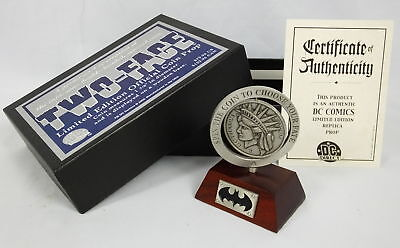 DC Direct Two Face Batman Replica Coin Prop Pewter Limited Edition 57/1100 w/Box