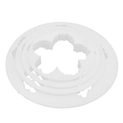 Household Kitchen Plastic Round Shaped Muffin Cake Peony Petal Cutter 5 in 1