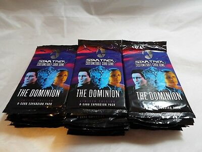 Star Trek Ccg Dominion, Lot Of 30 Sealed Booster Packs