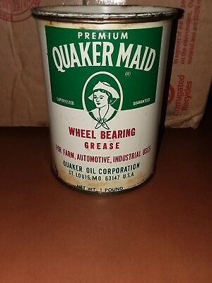 Vintage Quaker Maid Wheel Bearing Grease 1 lb tin Not sure whats in the can