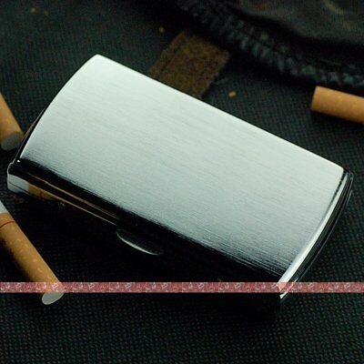 Stainless steel wire drawing processing male portable small 12 cigarette case