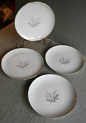 KAYSONS Fine China GOLDEN RHAPSODY DINNER PLATES P86186 White Gold Rim