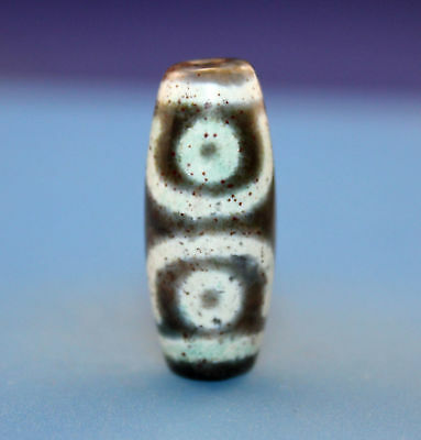 30*13 mm Antique Dzi Agate old 3 eyes Bead from Tibet **Free shipping**